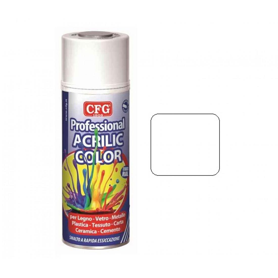 Professional Acrylic Paint - White Glossy - Spray 400 ml