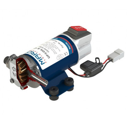Reversible Pump UP3/OIL-R for Oil with Integrated On/Off Switch - 24 Volt