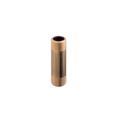 "Barrel Nipple Male Brass 1"". H 70 mm."