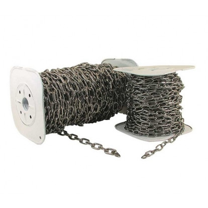 Long Link Stainless Steel Chain 4 mm - Coil 25 mtr