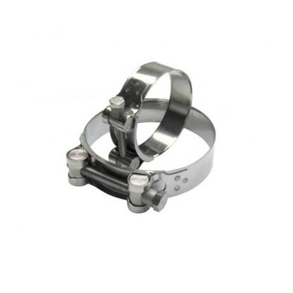 Stainless Steel T-Bolt Collar - Ø 104-112 mm
