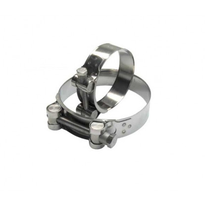 Stainless Steel T-Bolt Collar - Ø 122-130 mm