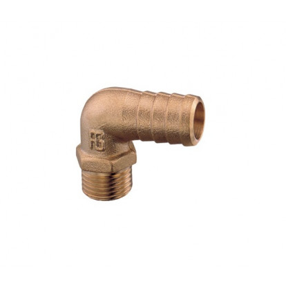 "Brass Elbow 90° Male 1/4"" with Hose Connector Ø 12 mm"