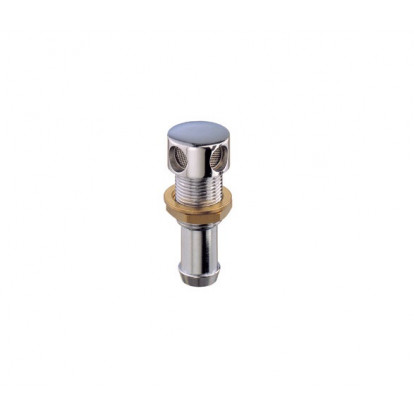 Chromium-plated Brass Tank Vent with Straight Hose Connection Ø 19 mm