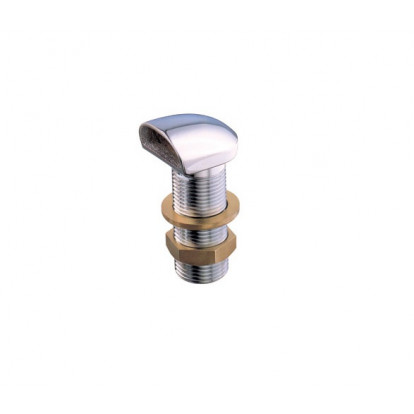 """Chromium-plated Brass Scupper series SPACE 1"""" 1/4"""