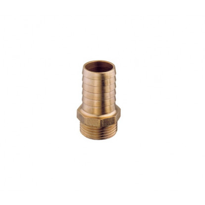 """Hose Connector Male Brass series EXTRA 1"""" 1/4 - Hose Connector 45 mm"""