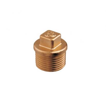 """Plug Male Bronze 1"""" 1/2"""