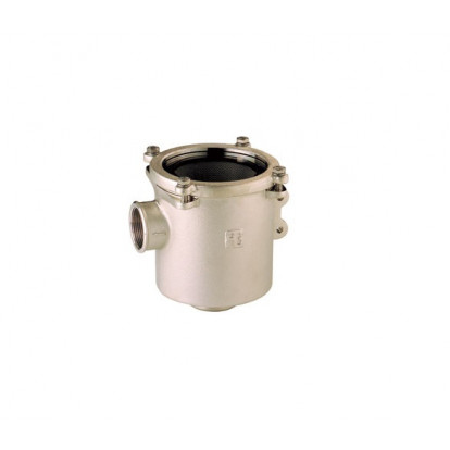 "Water Strainer Nickel-plated Bronze series Ionio 1"" 1/2 - Polycarbonate Cover"