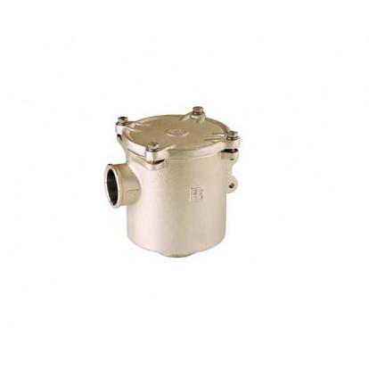 "Water Strainer Nickel-plated Bronze series Ionio 1"" 1/2 - Metal Cover"
