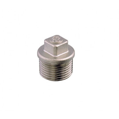 "Plug Male Nickel-plated Brass 1/4"""