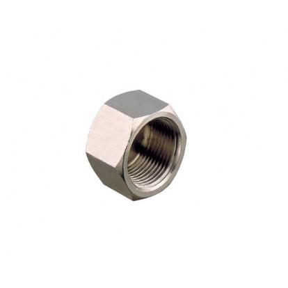 "Plug Female Nickel-plated Brass 1/4"""