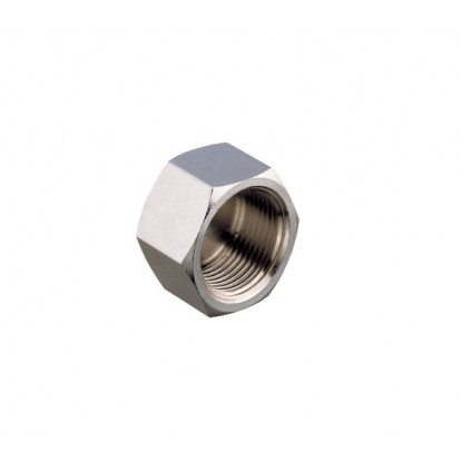 Plug Female Chromium-plated Brass 1/2""