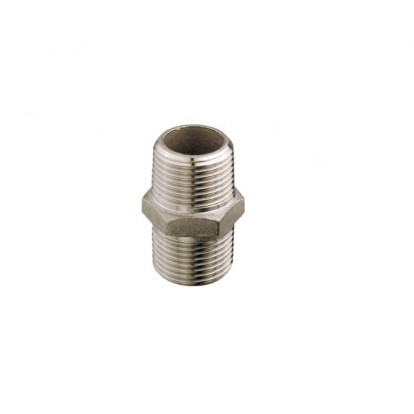"Nipple Double Stainless Steel 1"" 1/2"