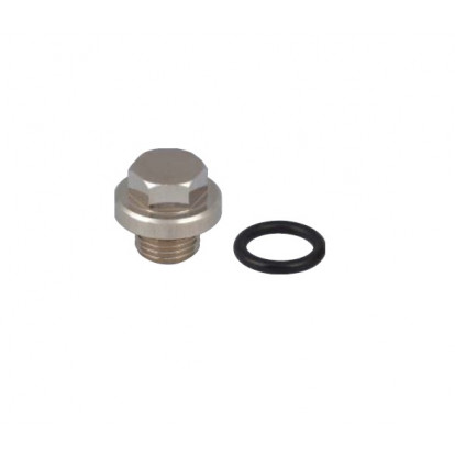 "Nickel-plated Drain Plug with O-Ring Water Strainer (1162; 1163 - 4"")"