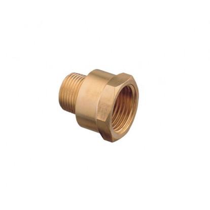 "Reducing Nipple Brass MF 3/4"" ---> 1/4"""