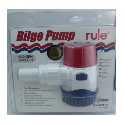 Submersible Bilge Pump - Rule 500 Mod. 25DA - 12 Volt