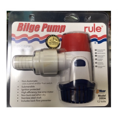 Submersible Bilge Pump - Rule 800 Mod. 20DA - 12 Volt