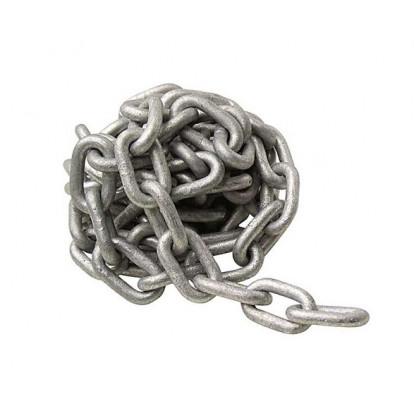 Long Link Galvanized Steel Chain 8 mm - Segment 2 mtr