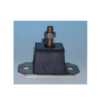 Supporto Elastico Rettangolare 70 Kg - Perno M12 - Altezza 86 mm