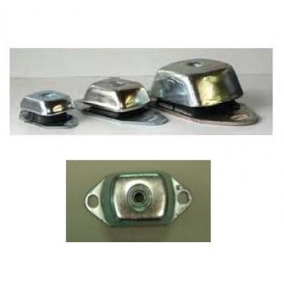 Supporto Elastico Rettangolare 100 Kg - Foro M12 - Altezza 38 mm