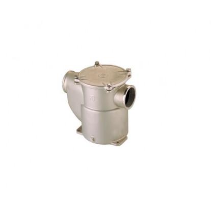 """Filtro Depurazione Acqua Bronzo Nichelato serie Mediterraneo 1"""" 1/2 - Coperchio in Metallo"""