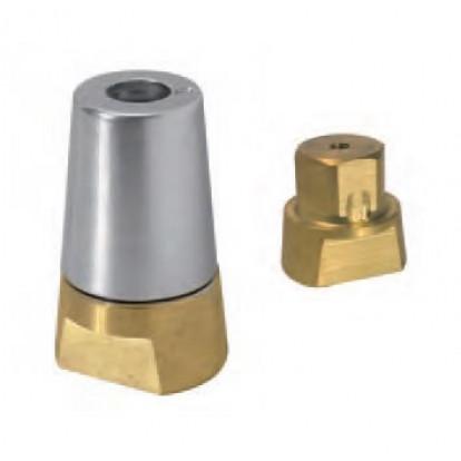 Ogiva in Bronzo Esagonale RA-1E per Asse Ø 25 mm