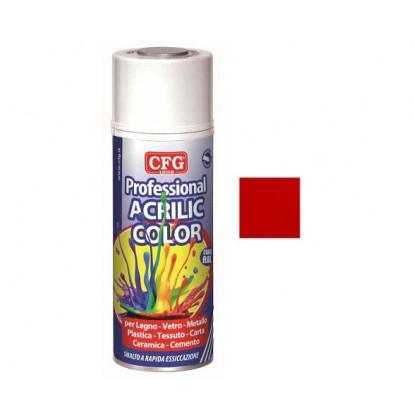 Smalto Acrilico Professionale - Rosso Fuoco - Spray 400 ml